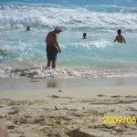 The Beautiful beach at Barcelo Tucancun