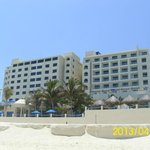 Beach view of the hotel