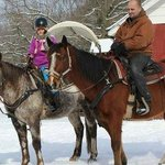 us riding Buster and Zip