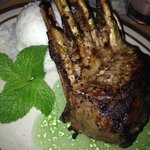 Half rack of lamb with mint jelly!