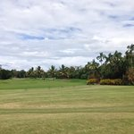 The golf course next to paradise links resort