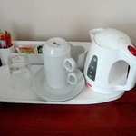 electric kettle, coffee and tea