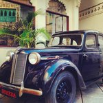 The antique car which in a way is Boheda's identity now