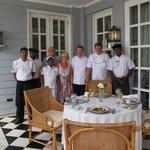 Die Sterne Köche mit Personal und Gäste