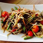 Lao papaya salad (authentic and very popular for Thai people )