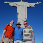 Daniel (middle) and us on Corcovado