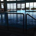 The warm indoor/outdoor pool