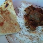 Lamb Do Piaza with Garlic Kulcha at Royal Taj (with no tomatoes)