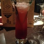 cocktail stawberry collins