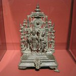 ALTAR PIECE WITH VISHNU AND SHRI DEVI