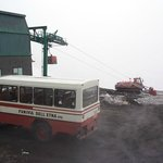 Transportation up the volcano