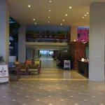 Hotel entrance and lobby area