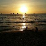 sunset at La Carmela