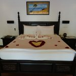 bed decorated for my valentine