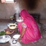 Chhotaram's mother busy in kitchen