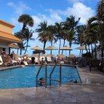beautiful pool area facing the beach