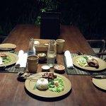 Dinner delivered to our villa