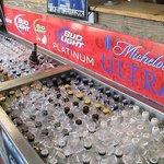 Beer Cooler in Entryway
