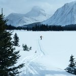 One of the day trails near the lodge… this one was circumnavigating Skoki mountain  (a 3 hour sk