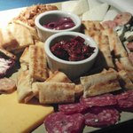 Cheese & meat platter, goes well with a bottle of wine, $13.