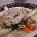 Ensalada tibia de pollo... La de codorniz escabechada no tiene igual!!!!