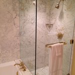 Beautiful marble shower