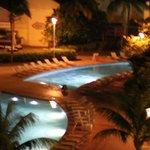 Serpantine pool at night