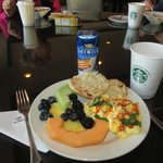 My breakfast plate from club lounge on last day.