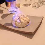 The Baked Alaska being Flambeed