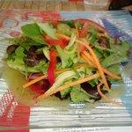 salade bien croquante avec vinaigrette maison