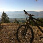 "Nearby mountain bike trail ""feel the love"""