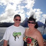 Approaching the Pitons.