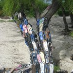 Tree of Souls--from washed up flip flops