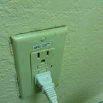 Very few outlets, old, half non working, dangerous!