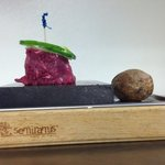 Filet mignon on Italian marble stone by reservation only!