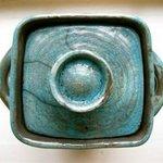 Raku jar by artist, Sherry Corbin.