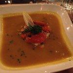 Soupe de carottes aux châtaignes