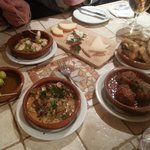 a small selection of the tasty tapas