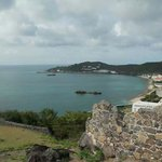 View to Marigot port from Fort Saint Louis