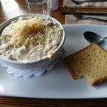 Chowder with gluten-free bread