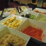 Salad at dinner time