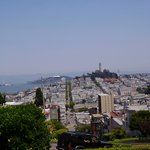 View from hill toward Coit Tower