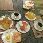 Breakfast at Viengtai -a lot of choice