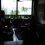 Huge living room area with ocean view