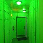 Cool hallway at night