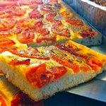 Tomato and oregano focaccia