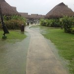 Flooded path to our Bungalow