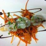 Croustillant de St Jacques et carottes rapées