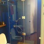 The bathroom... beach level room has not tub but the rest do