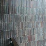 Shabby tiles on balcony